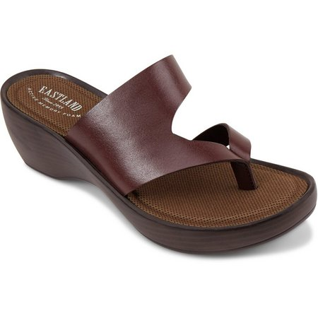 Eastland Womens Laurel Wedge Thong Sandals