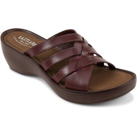Eastland Womens Poppy Wedge Sandals