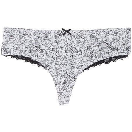 New! Maddie & Coco Roses Lace Back Thong