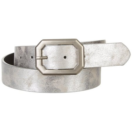 Jessica Simpson Womens Foil Reversable Belt