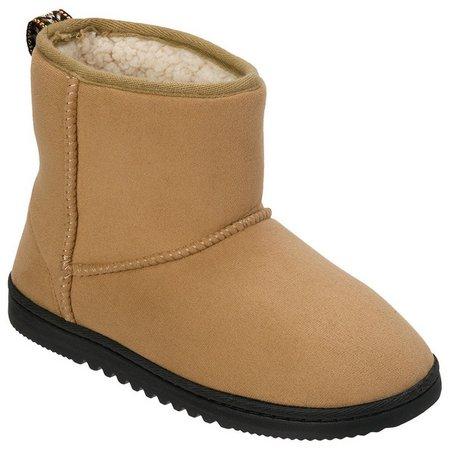 Dearfoams Womens Microfiber Suede Boot Slippers