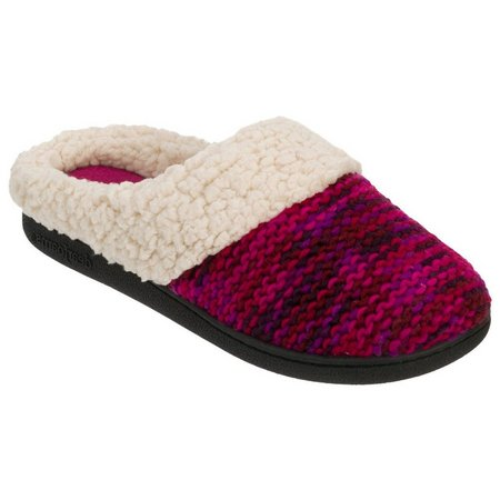 Dearfoams Womens Sweater Knit Clog Slippers