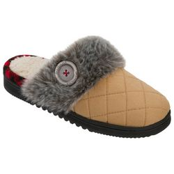 Dearfoams Womens Quilted Clog Slippers