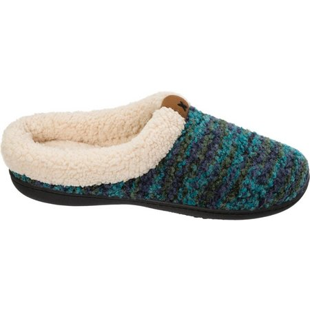Dearfoams Womens Textured Knit Clog Slippers