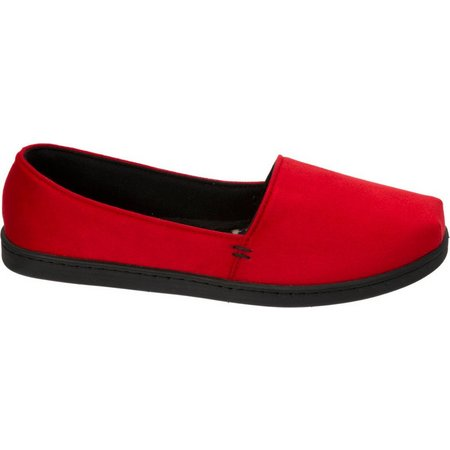 Dearfoams Womens A-Line Crossover Slippers
