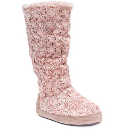 Muk Luks Womens Maleah Blush Boot Slippers