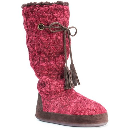 Muk Luks Womens Grace Sweater Boot Slippers