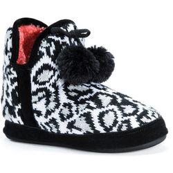 Muk Luks Womens Pennley Animal Print Boot Slippers