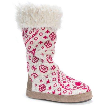 Muk Luks Womens Maleah Paisley Tall Boot Slippers