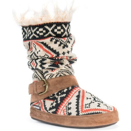 Muk Luks Womens Lisen Tribal Print Boot Slippers