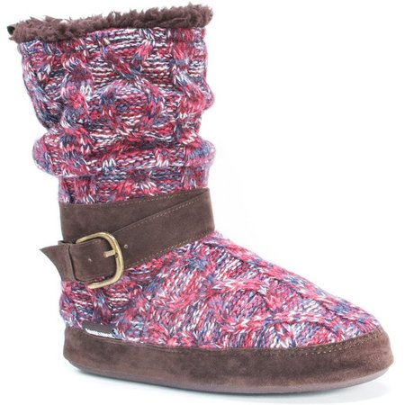 Muk Luks Womens Lisen Knit Boot Slippers