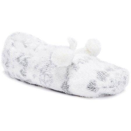 Muk Luks Womens Noelle Bridal Ballerina Slippers