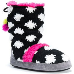 Muk Luks Womens Jenna Polka Dot Slippers