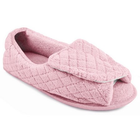Muk Luks Womens Quilted Adjustable Slippers