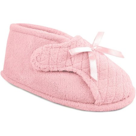 Muk Luks Womens Quilted Adjustable Bootie Slippers