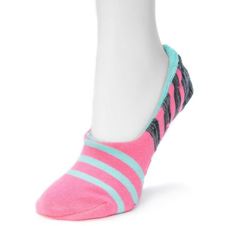 Muk Luks Womens Stripe Ballerina Slipper Socks