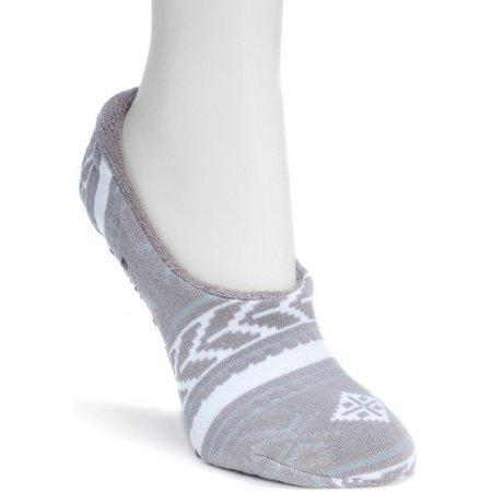 Muk Luks Womans Printed Ballerina Slipper Socks