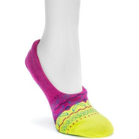 Muk Luks Womans Geometric Ballerina Slippers Socks