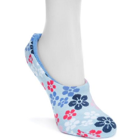 Muk Luks Womans Floral Ballerina Slipper Socks
