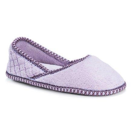 Muk Luks Womens Beverly Micro Chenille Slippers