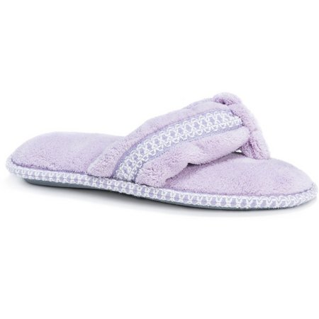 Muk Luks Womens Darlene Slip On Thong Slippers