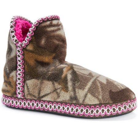 Muk Luks Womens Amira Camo Bootie Slippers