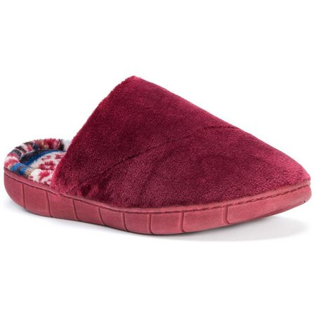 Muk Luks Womens Gretta Fleece Clog Slippers