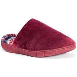 Muk Luks Womens Gretta Fleece Clog Slippers