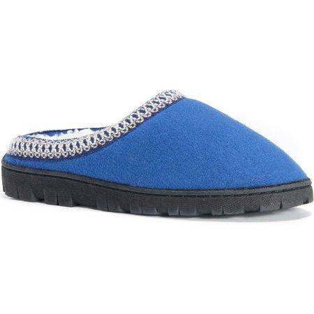 Muk Luks Womens Fleece Clog Slippers