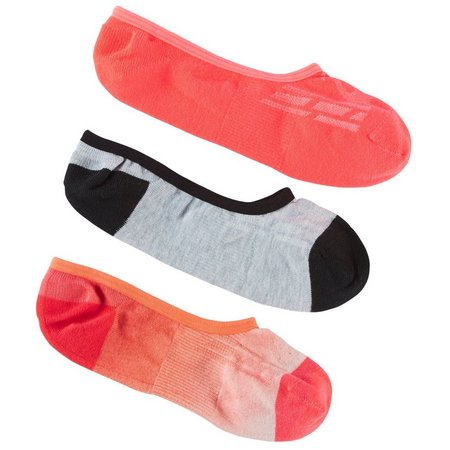 Asics Womens 3-pk. Invisible Performance Ombre Liner Socks