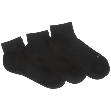 Hue Womens 3-pk. Quarter Socks