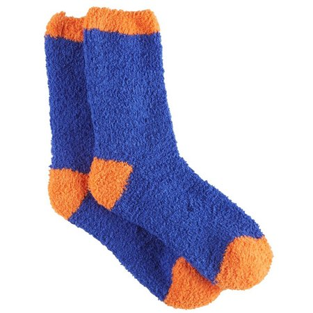 Cuddle Sox Womens Colorblock Collegiate Socks
