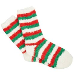 Gold Medal Womens Holiday Stripe Cozy Socks