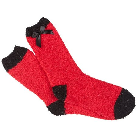 Cuddle Sox Womens Solid Christmas Sparkle Socks