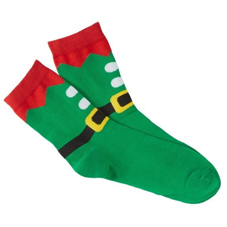 Brighten the Season Holiday Elf Suit Socks