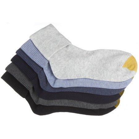 Gold Toe Womens 6-pk. Grey Turn Cuff Socks