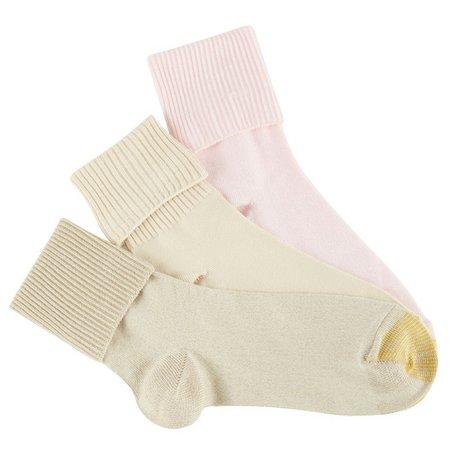 Gold Toe Womens 3-pk. Ultra Soft Turn Cuff