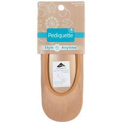 Peds 2-pk. Womens Pediquette Comfort Liner Socks