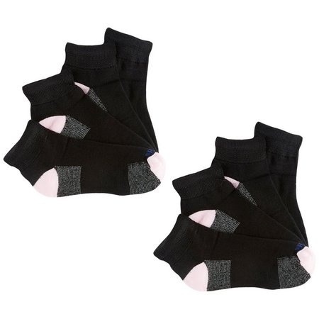 Medipeds Womens 4-pk. Nanoglide Quarter Socks