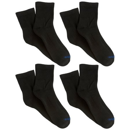 Medipeds Mens 4-pk. Diabetic Coolmax Quarter Socks