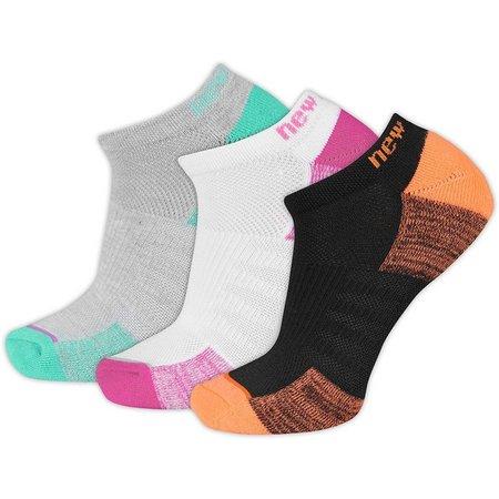 New Balance Womens 3-pk. Colorblock No Show Socks
