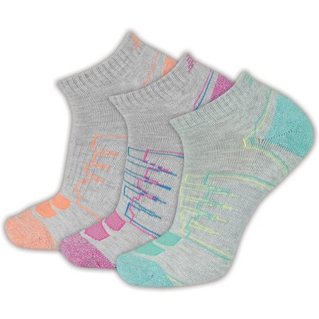 New Balance Womens 3-pk. No Show Heather Socks