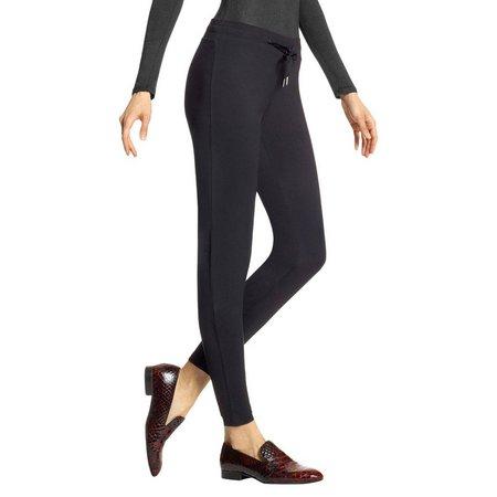 Hue Womens Menswear Jogger Leggings