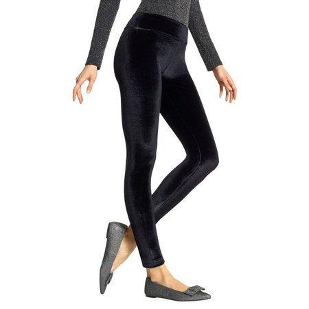 Hue Womens Crushed Velvet Leggings