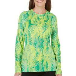 Reel Legends Womens Freeline Pineapple T-Shirt