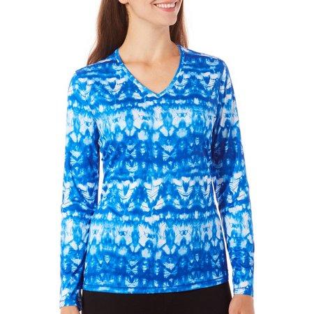 Reel Legends Womens Reel-Tec Tie Dye Print Top