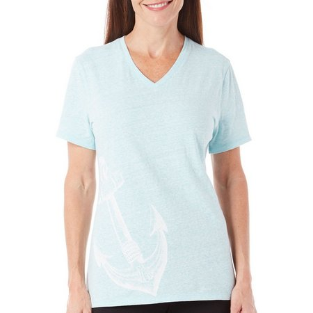 Reel Legends Womens Anchor Graphic T-Shirt