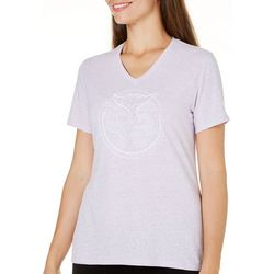 Reel Legends Womens V-Neck Fish Tale Print T-Shirt