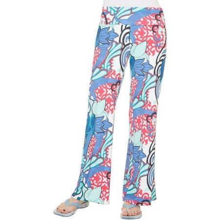 Reel Legends Womens Keep It Tulip Print Pants