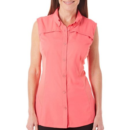 New! Reel Legends Womens Freewater Sleeveless Top